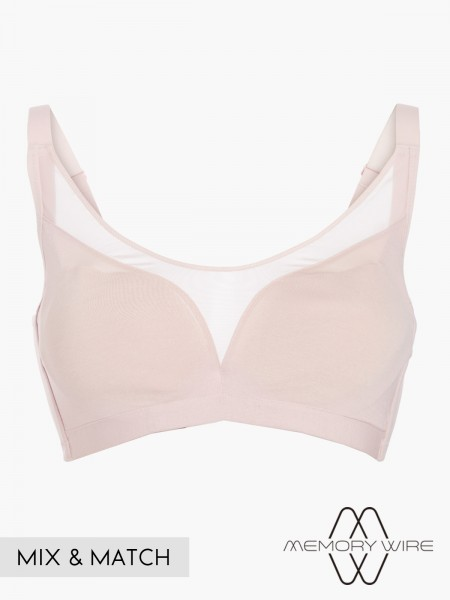 NiTi Shape-Memory Wire Moulded Full Cup Bra (Cup D-E)