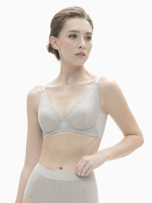 NiTi Shape-Memory Wire Non-padded Full Cup Bra (Cup D-E)
