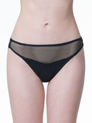 Leather-like Low-rise Brief