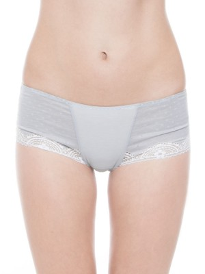 Cotton Blended Lace Seamless Short Brief