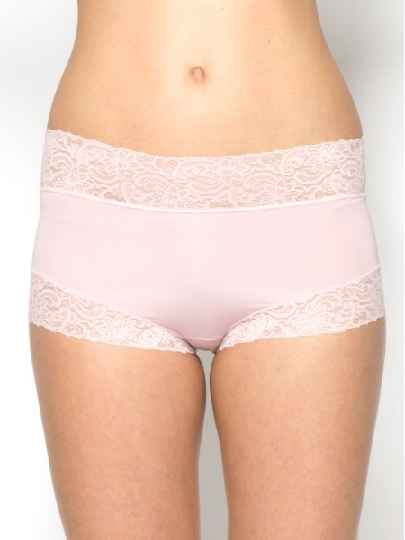 Lace Trimmed Tactel® Midi Boxer