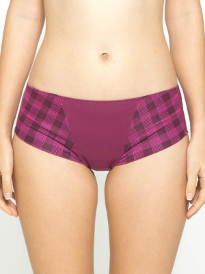 Checkered Seamless Short Brief