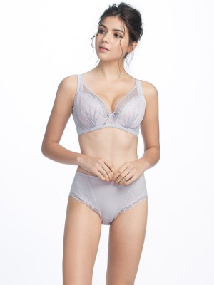 Lace Deep V Soft Cup Bra (Cup F-G)