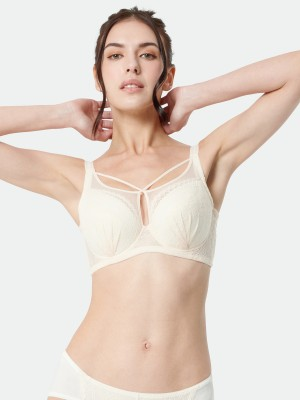 Front Cross Soft Cup Bra (Cup C-E)