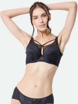 Front Cross Deep V Soft Cup Bra (Cup F-G)