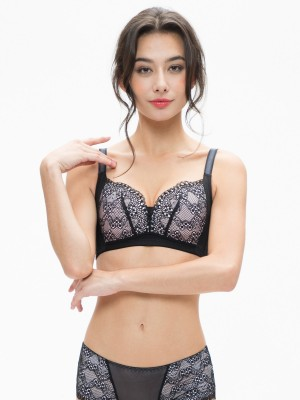 Lace Wireless Push-in Bra