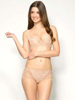 British Checkered Soft Cup Bra