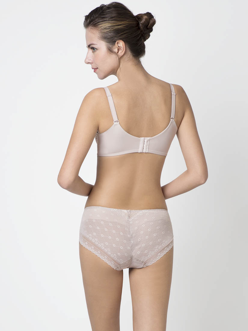 Niti Shape Memory Wire Plunge Bra Cup A D Brown