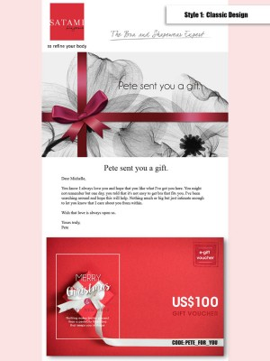 E-Gift Card with US$100 Voucher