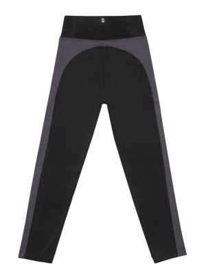 High-waist Side Panel Color Block Legging