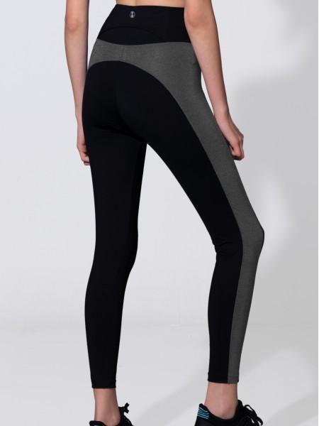 Hi-waist Side Panel Color Block Legging