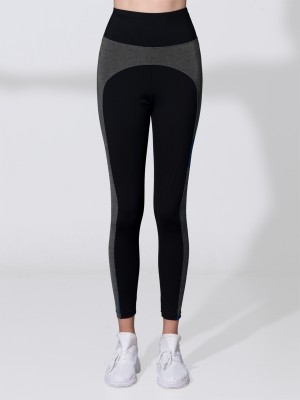 Hi-waist Side Panel Color Block Legging