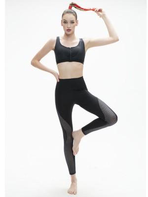 High-waist Side Mesh Panel Legging