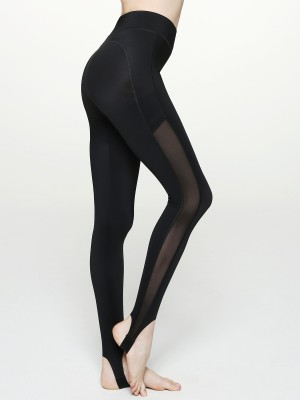 Hi-waist Ankle Strap Shaping Leggings