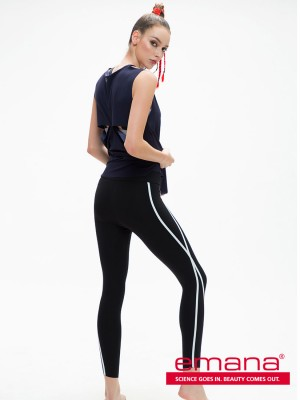 Emana® Wave Line Trim Leggings