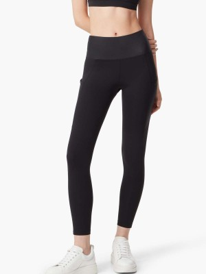 Emana® Leather-like Side-Pocket Leggings