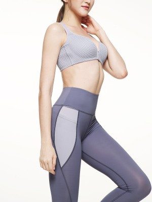 High-waist Side Pocket Color Block Legging