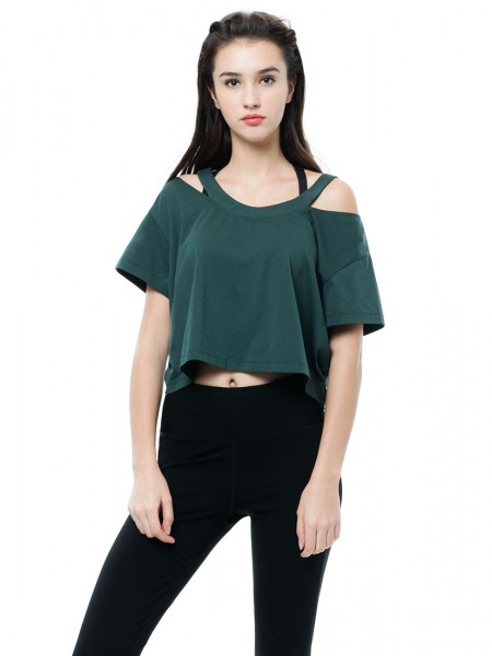Cold Shoulder Crop Tee