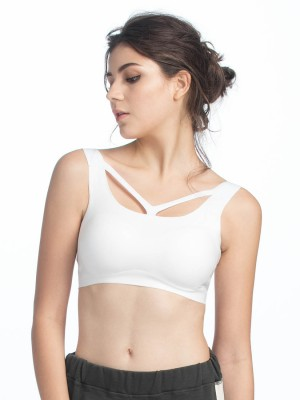 V-straps Neckline Wireless Cami Bra