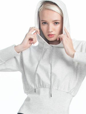 Cropped Drawstring Hoodies