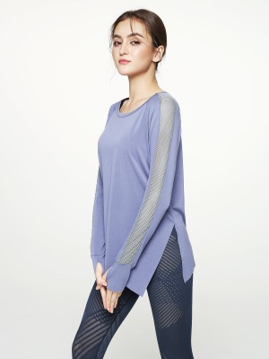 Free Cut Cut-out Back Long Sleeve Top