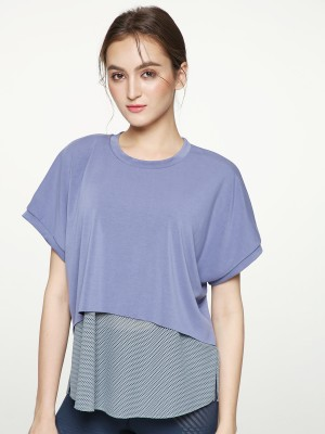 Free Cut Drop Shoulder Top
