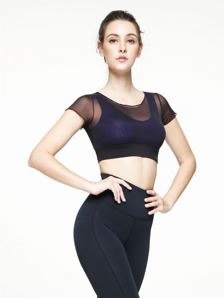 Cross Back Wireless Mould Sports Bra (Cup B-D)