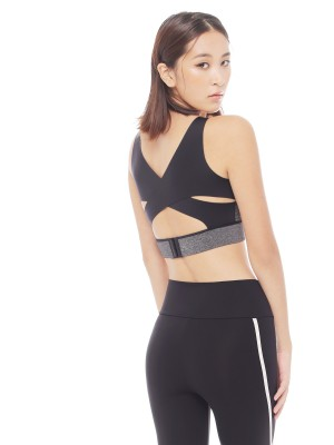 Cross Back Wireless Mould Sports Bra (Cup A-D)