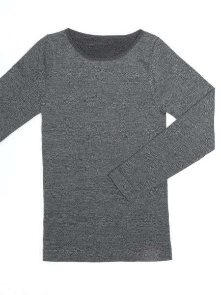 Cotton Blended Seamless Thermal Long Sleeve Tee - Round Neck