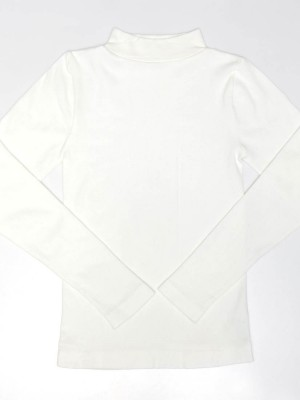 Cotton Blended Seamless Thermal Long Sleeve Tee - Standing Collar