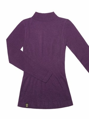Wool-like Thermal Long Sleeve Tee - Standing Collar