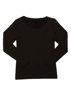 Brushed Thermal Long Sleeve Tee - Round Neck With Thumb Holes