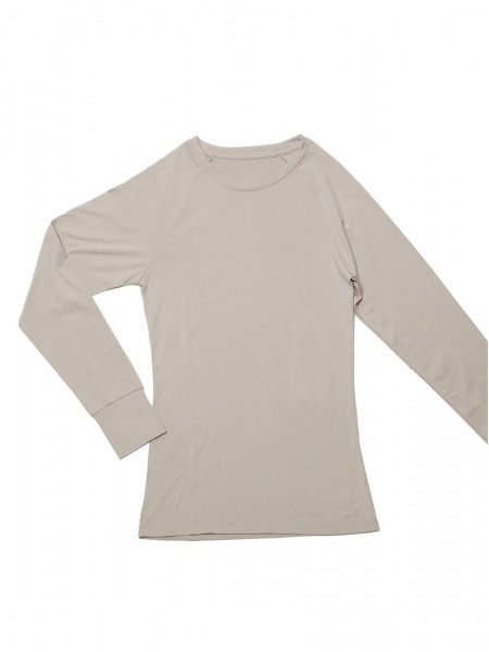 Brushed Thermal Long Sleeve Raglan Tee - Crew Neck With Thumb Holes